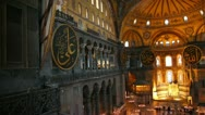 Stock Video Footage of hagia sofia museum interior in istanbul turkey