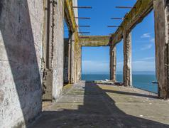 Prison buildings of alcatraz island prison Stock Photos