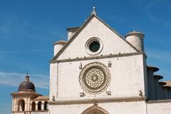 Papal basilica of saint francis of assisi - san francesco Stock Photos
