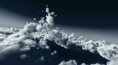 Stock Video Footage of fly in clouds