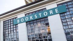 bookstore at alcatraz island - stock photo