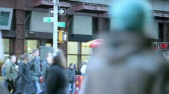 Times Square Street in New York City Stock Footage