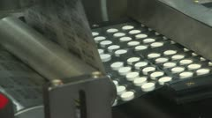 Stock Video Footage of Automated production of medicines. packaging for tablets