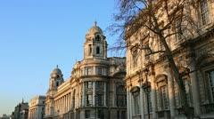 Buildings on Whitehall, London Stock Footage