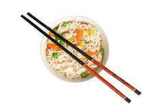 asian noodle soup - stock photo