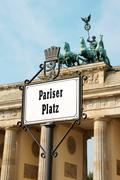 pariser platz, berlin - stock photo