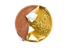Chocolate coin Stock Photos