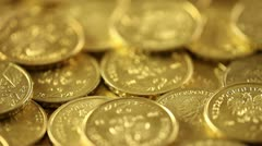 Coins Stock Footage