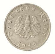 Stock Photo of 10 reichspfennig 1948