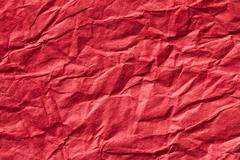 red crumpled paper background - stock photo