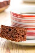 sweet chocolate dessert - stock photo