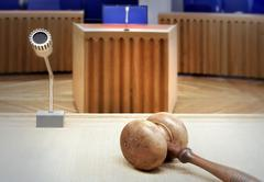 modern courtroom - stock photo