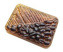 Coffee soap_3 - stock photo