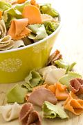 raw colored pasta - stock photo