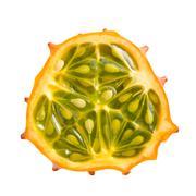 kiwano fruit - stock photo