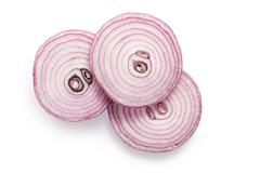 sliced red onion - stock photo