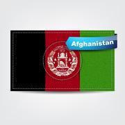 Fabric texture of the flag of afghanistan Stock Illustration