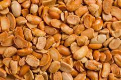 roasted soya beans background - stock photo