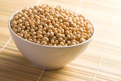 Stock Photo of soya beans in ceramic bowl