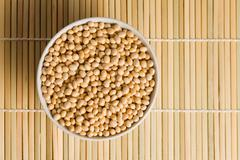 Stock Photo of soya beans in ceramic bowl