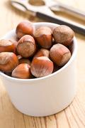Stock Photo of hazelnuts in bowl
