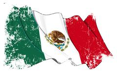 Grange Flag of Mexico Stock Illustration