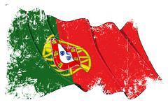 Grange Flag of Portugal - stock illustration