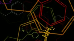 Molecule - Phenethylamine Stock Footage