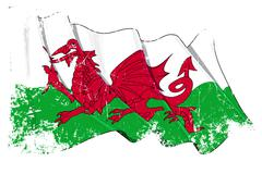 Grange Flag of Wales Stock Illustration