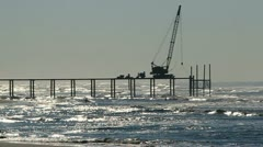 Stock Video Footage of Building a Pier