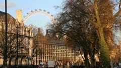 Westminster Square with traffic Stock Footage