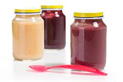 Stock Photo of baby food in glass jar
