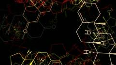 Molecule -  Testosteron Stock Footage