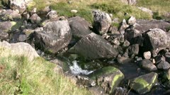 Bleamoss Beck in the English Lake District close up Stock Footage
