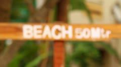Beach 50 mtr Stock Footage