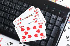 online poker gambling - stock photo