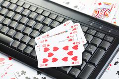 Online poker gambling Stock Photos