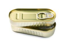 tin can of sardines - stock photo