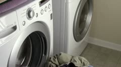 Laundry in Energy Efficient Machines - stock footage