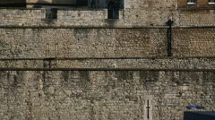 Tower of London, people in front of walls Stock Footage