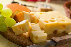 Stock Photo of still life with cheeses