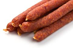 smoked sausages - stock photo