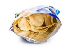 potato chips in bag - stock photo