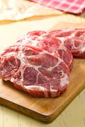 raw juicy meat - stock photo