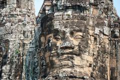 Angkor giant faces Stock Photos