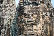 Stock Photo of angkor giant faces