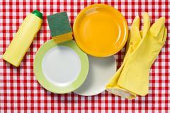 Washing dishes Stock Photos