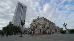 Frankfurt Opera Square Stock Footage