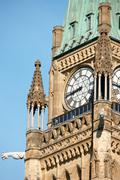 parliament of canada in ottawa - stock photo