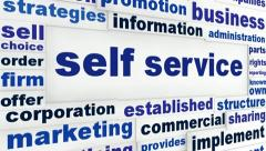 Self service business concept - stock footage